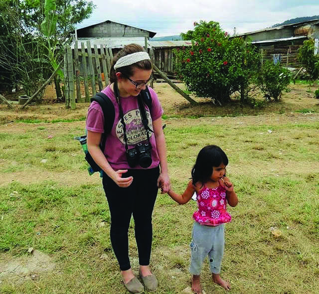 Senior Jordan Schaeffer on a mission trip in Honduras. This was Schaeffer's second time going to Honduras.