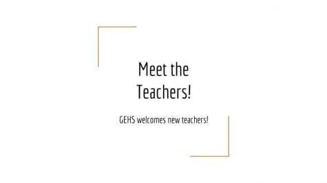 Meet the New Teachers