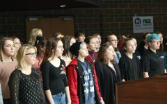 Students perform at the annual Senior Citizens Luncheon.